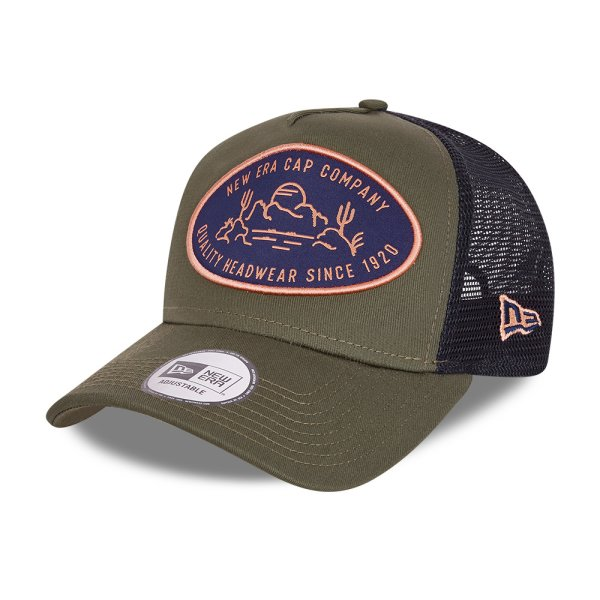 Outdoor Patch Trucker   olive